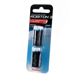 Li16340 RCR123A с защитой BL2 550mAh 3.7V Robiton