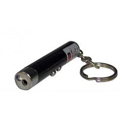 Фонарь-брелок 1 светодиод + лазер