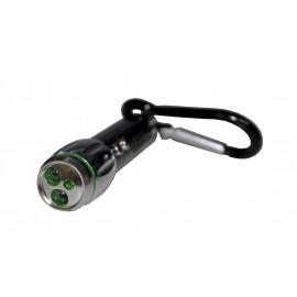 Фонарь-брелок 2 светодиода + лазер