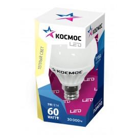 Лампа Космос LED 5Вт Шарик 45мм Е14 3000К (Lksm_LED5wGL45E1430)