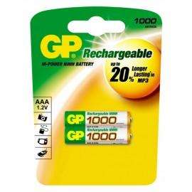 GP AAA 1000mAh BL2 (2/20)