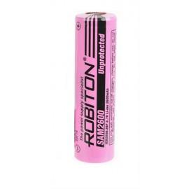 Li18650 2600mAh 3.7V (SAM2600mAh) (высокотоковый, без защиты) Robiton