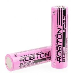 Li18650 2600mAh 3.7V (SAM2600mAh High Top) (высокий, без защиты) Robiton
