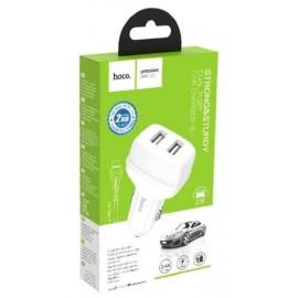 Авт. З/У Hoco USB2.1A 2usb Z36 2100mA + кабель TYPE-C white