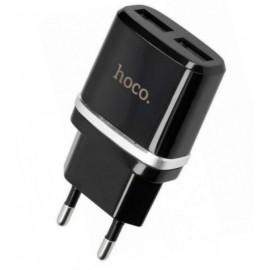 Hoco USB2.1A 2usb C12 2400mA black