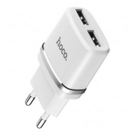 Hoco USB2.1A 2usb C12 2400mA white