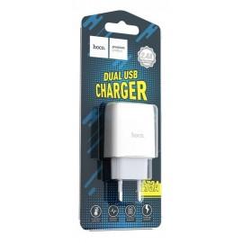Сетевое З/У Hoco USB2.1A 2usb C73A 2100mA white