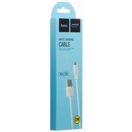 USB кабель MicroUSB Hoco X1 white 2 метра