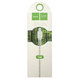 USB кабель MicroUSB Hoco X20 2.4A white