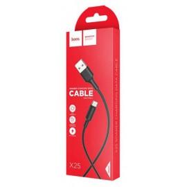 USB кабель TYPE-C HOCO X-25 black