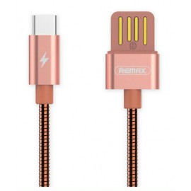 USB кабель TYPE-C Remax Tinned RC-080a pink