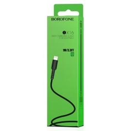 USB кабель Lightning Borofone BX16 2.0A black