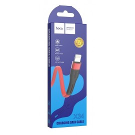 USB кабель Lightning Hoco X34 red