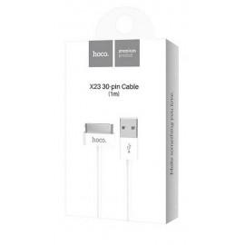 USB кабель iPhone 4/4S 30 pin Hoco X23 white