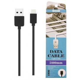 USB кабель iPhone Remax Light Cable RC-06i black 2 метра