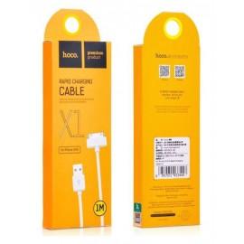USB кабель iPhone 4/4S Hoco X1 white