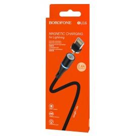 USB кабель Lightning Borofone BU16 2.4A red ткань