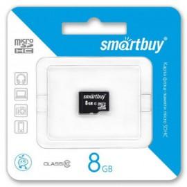 MicroSDHC 8GB Class10 без адаптера Smart Buy